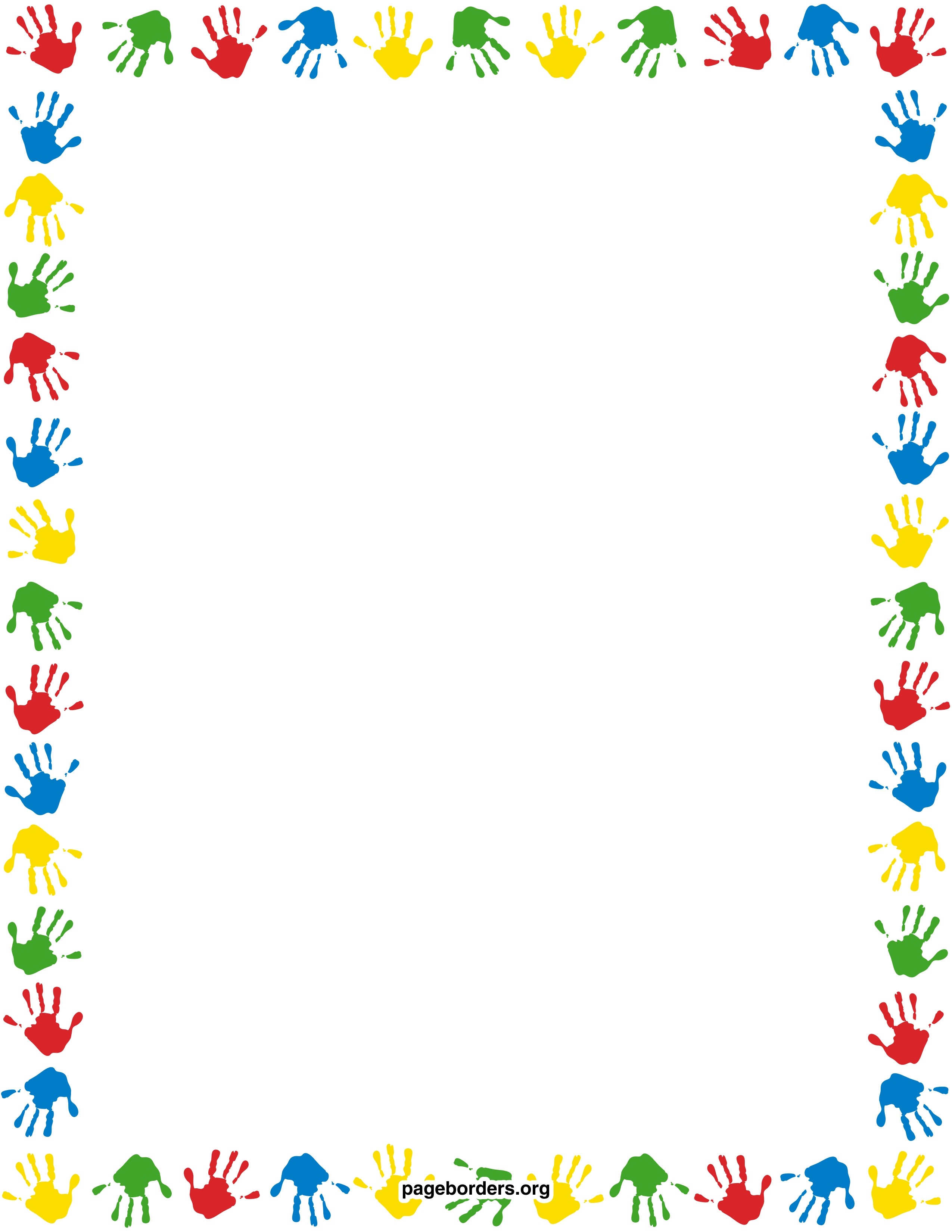 Preschool border clipart clipartfest