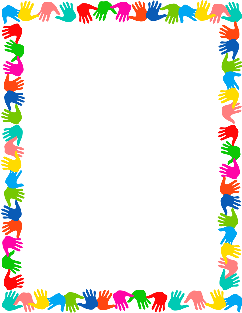 Preschool borders black and white clipart 3