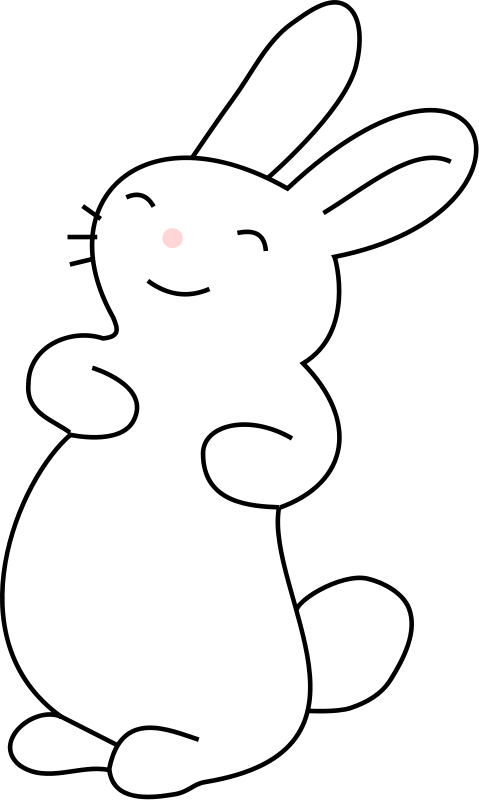 Rabbit  black and white bunny black and white bunny rabbit clipart 4