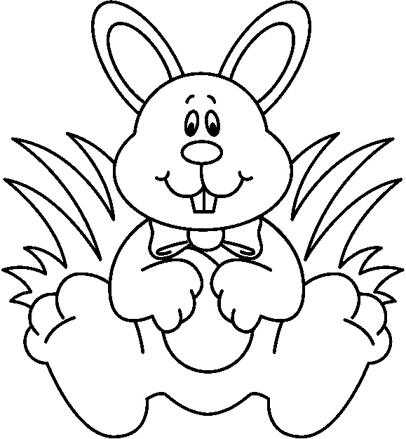 Rabbit  black and white bunny clipart black and white clipartfest 3