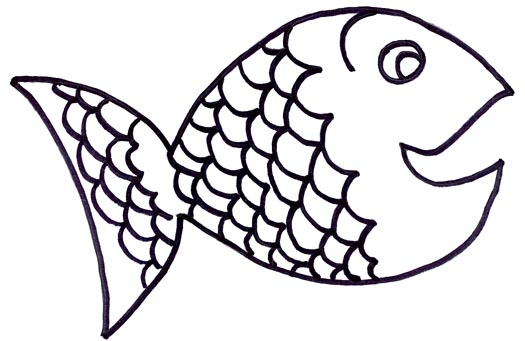 Fish outline clip art 2 - WikiClipArt