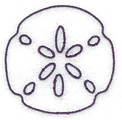 Sand dollar silhouette clipart