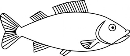 Simple fish outline clip art free clipart images 3