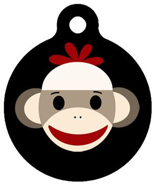 Sock monkey face clip art clipart 2