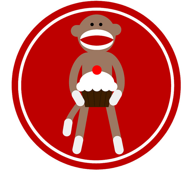 Sock monkey face clip art clipart