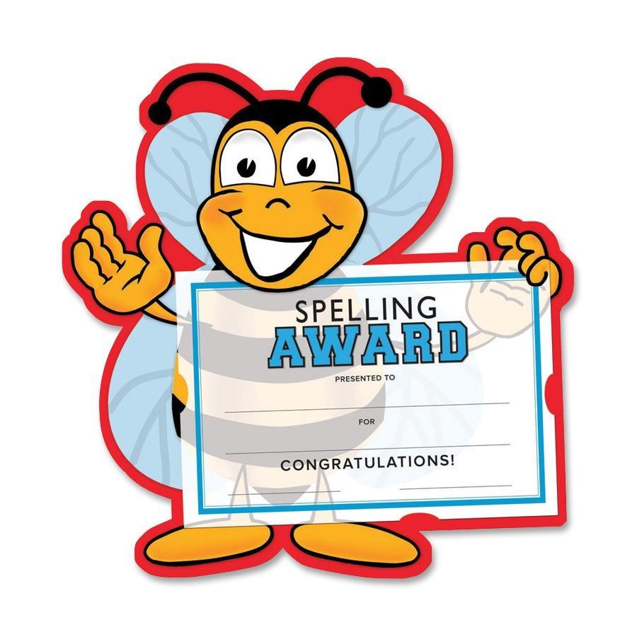 Spelling bee certificate clipart