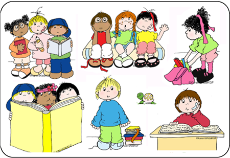 Students reading and writing clipart clipartfest