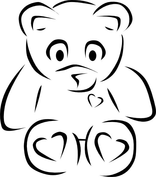 Teddy bear  black and white 0 ideas about teddy bear tattoos on bears clip art 2