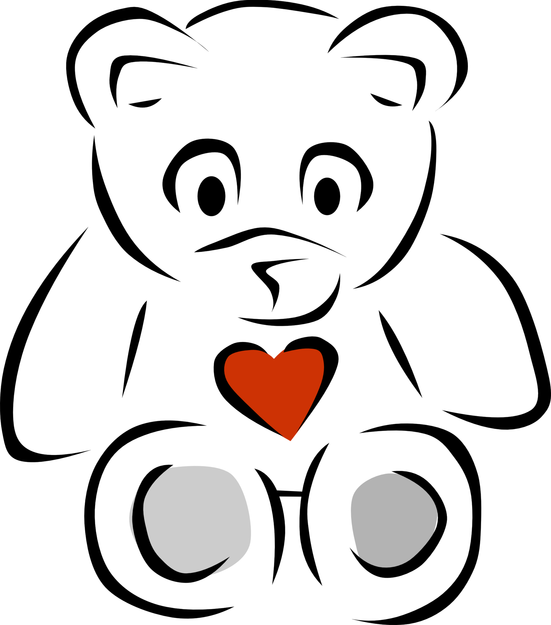 Teddy bear  black and white black and white pictures of bears clipart free to use clip art