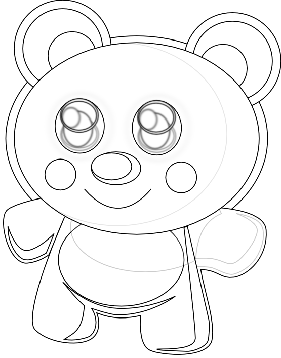 Teddy bear  black and white cute animal bear clipart black and white clipartfest 2