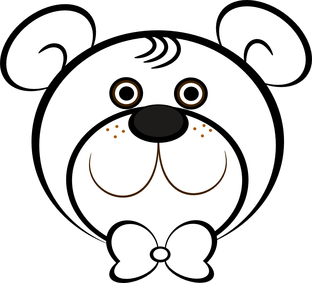 Teddy bear  black and white teddy bear black and white clipart 2