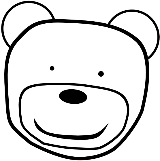 Teddy bear  black and white teddy bear black and white clipart 6