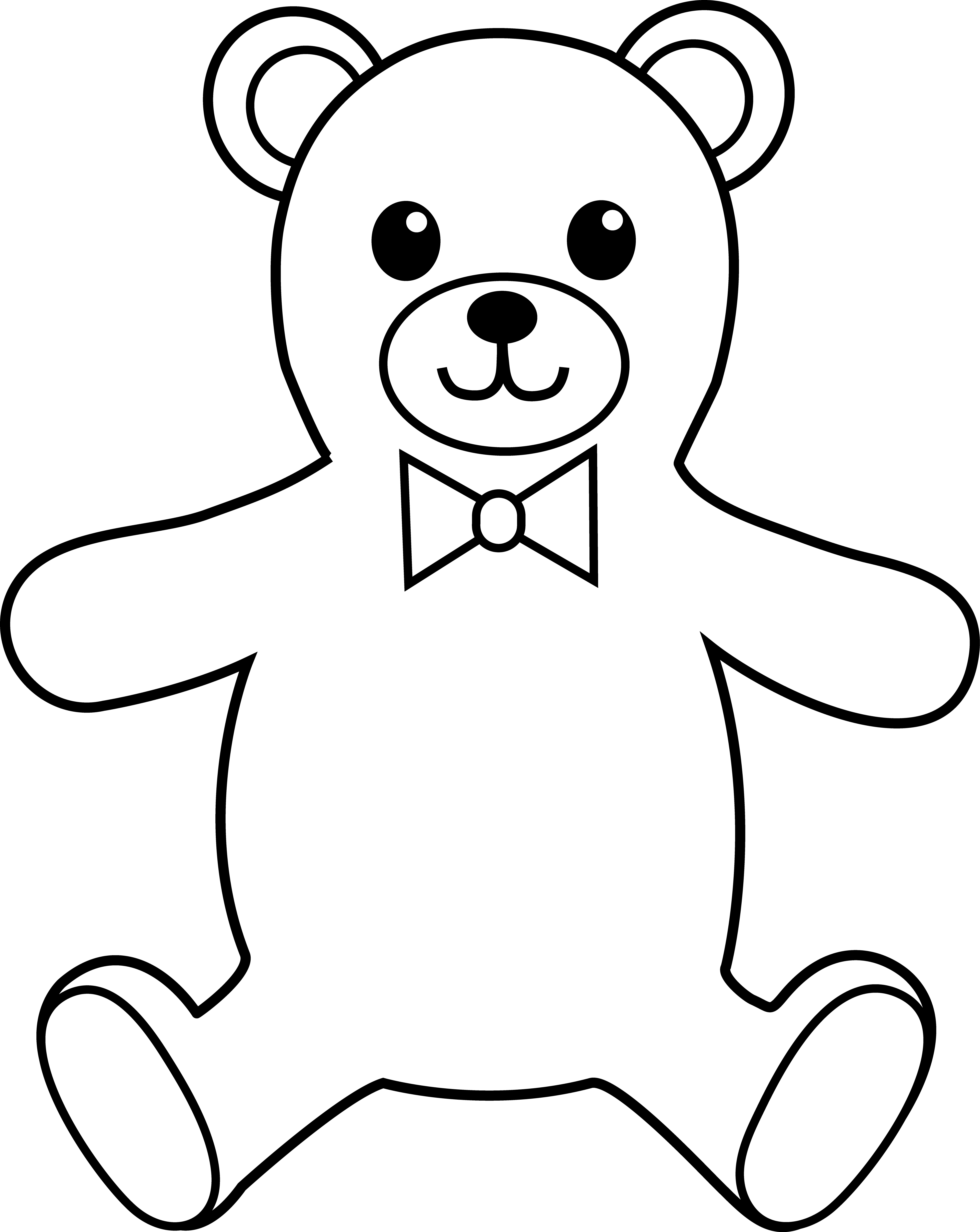 Teddy bear  black and white teddy bear black and white free download clip art 2