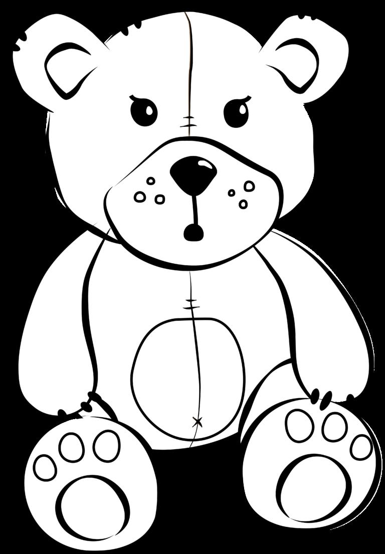 Teddy bear black and white white bear cartoon free ...
