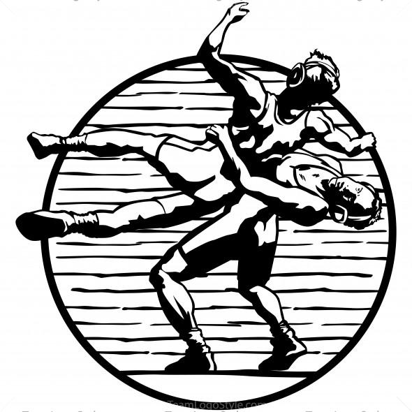 Wrestling wrestler clipart wikiclipart