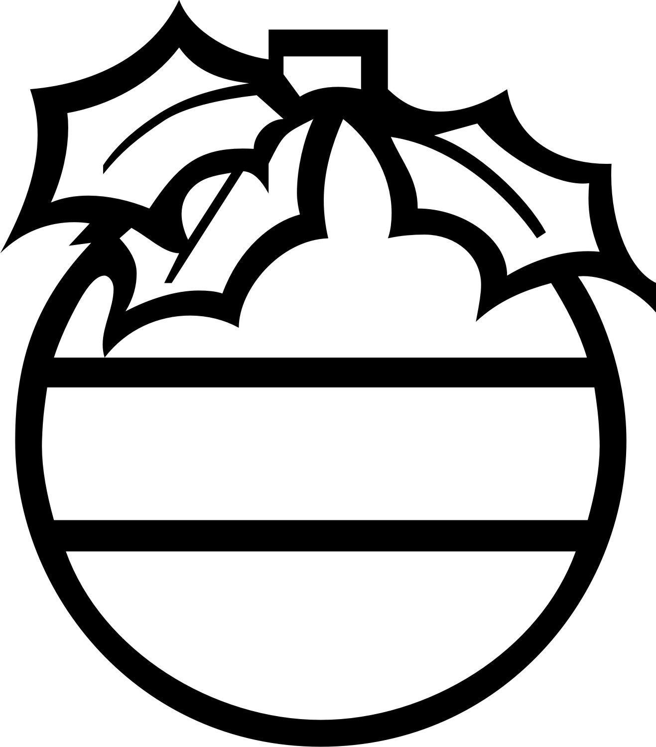 Christmas Ornament Clipart Black And White