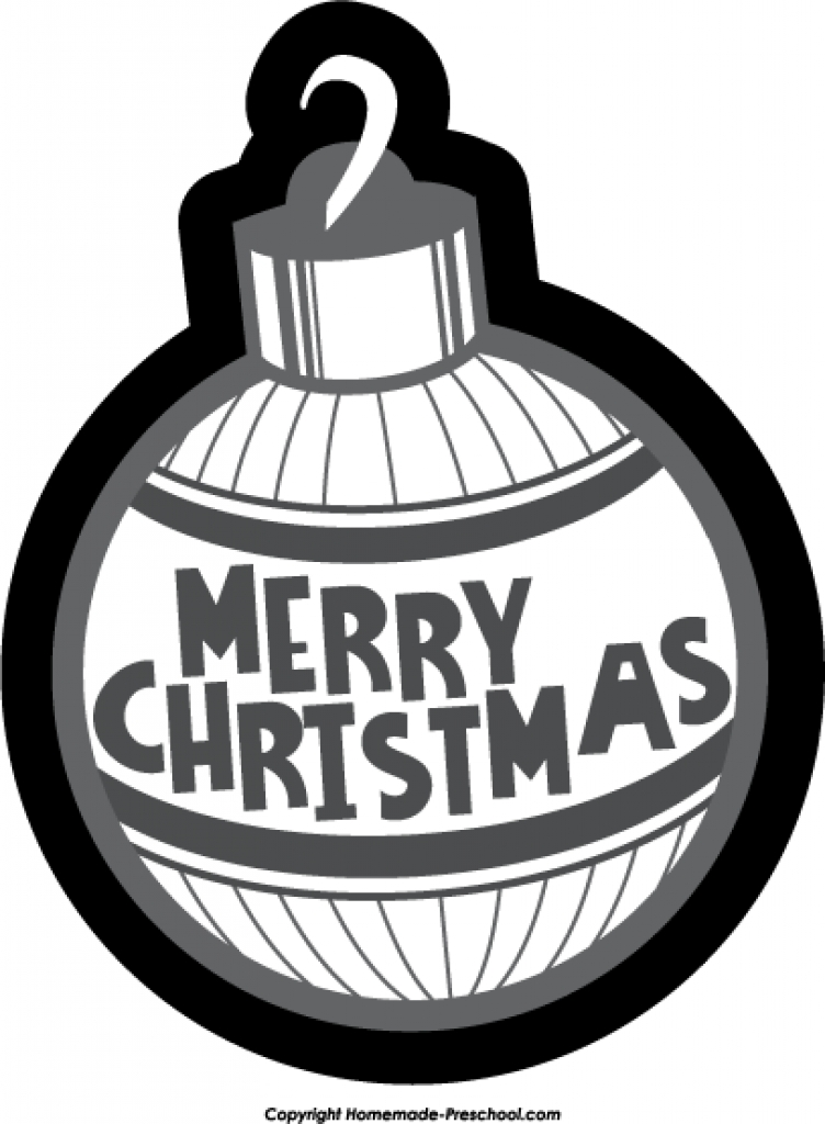 Christmas ornament  black and white christmas ornament black and white designcorner clipart