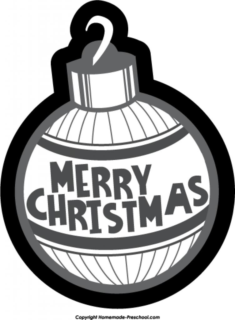 Christmas ornament  black and white christmas ornament black and white designcorner clipart