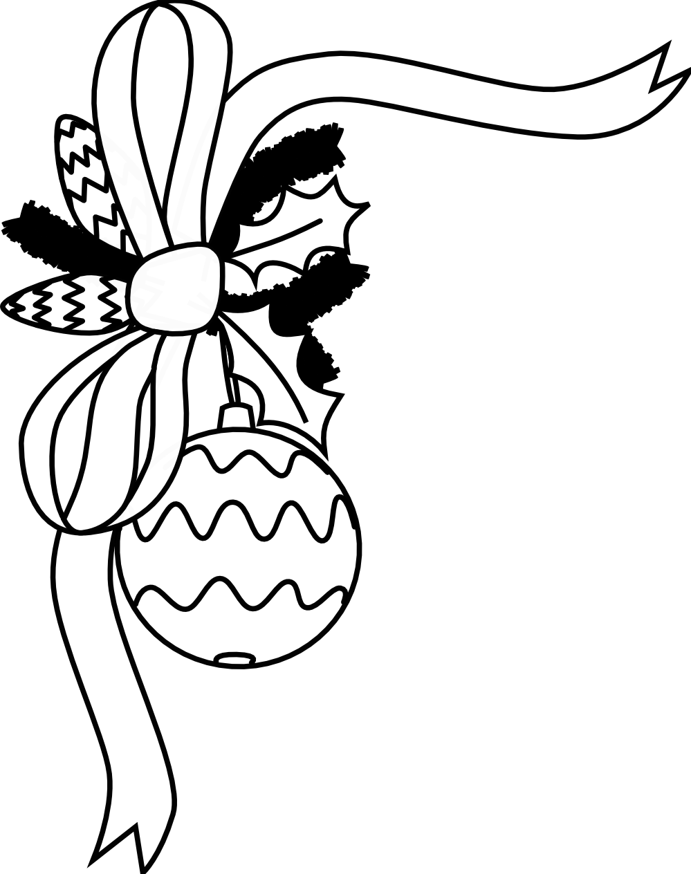 Christmas ornament  black and white christmas ornament clipart black and white free 3