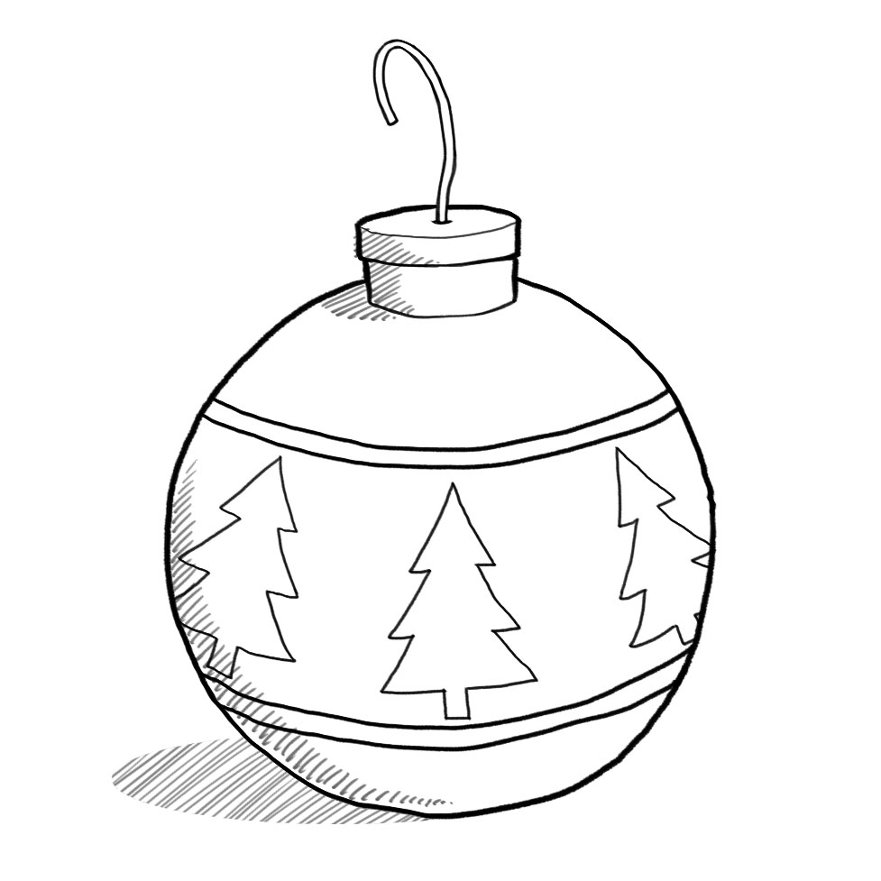 Christmas ornament  black and white christmas ornament clipart black and white free clipartfest 2