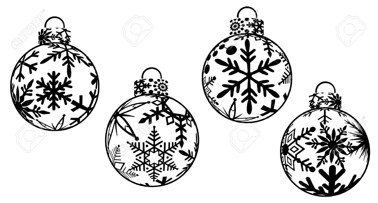 Christmas ornament  black and white christmas ornament clipart black and white free clipartfest
