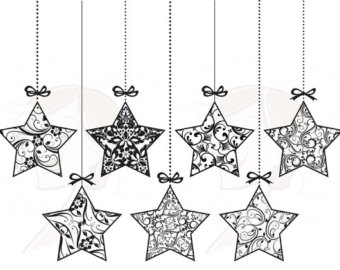 Christmas ornament  black and white christmas ornament clipart black and white merry 2