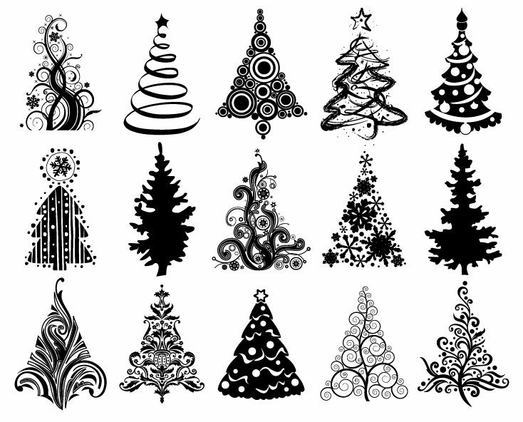 Christmas ornament  black and white christmas ornament clipart black and white merry 7