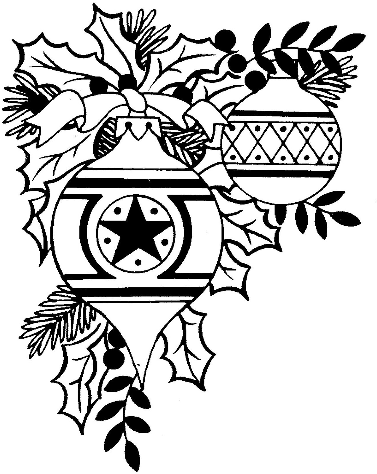 Christmas ornament  black and white free christmas clip art black and white