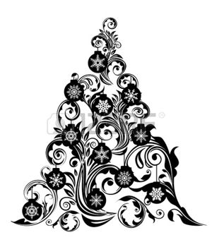 Christmas ornament  black and white images about xmas on vintage christmas clipart