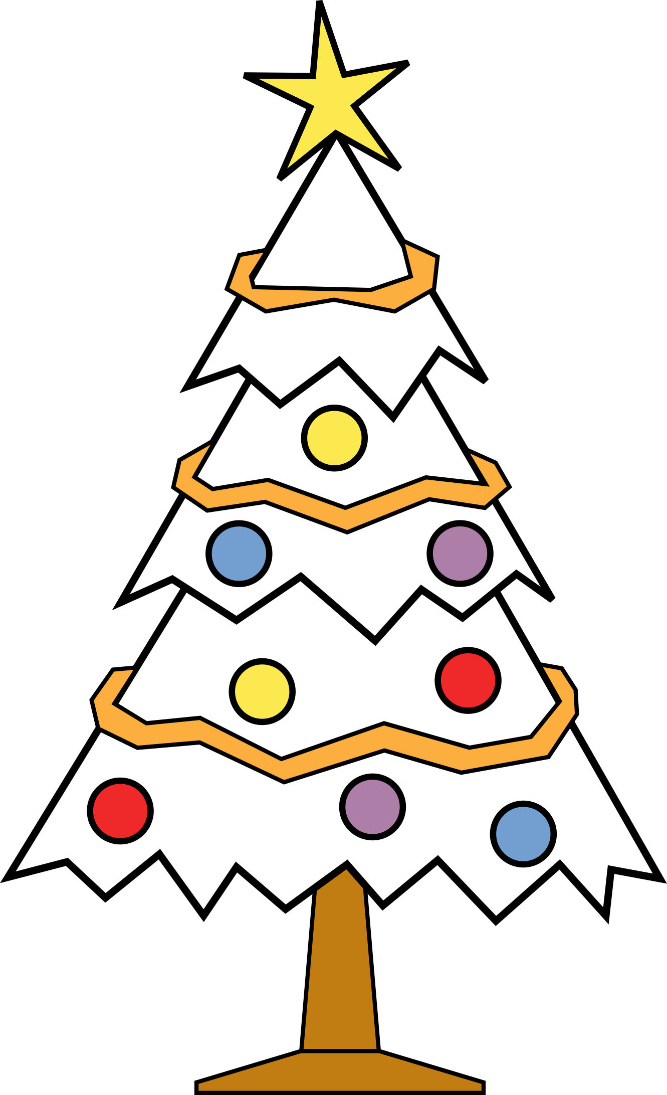 Christmas ornament  black and white tree ornament clipart black and white clipartfest