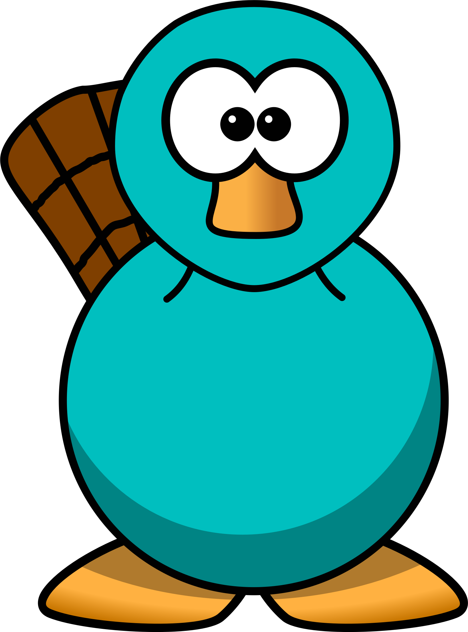 Clipart cartoon platypus teal