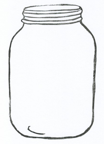 Cookie jar mason jar outline clip art clipartfox