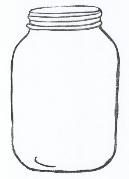 Cookie jar mason jar outline clip art clipartfox