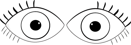 Eyes  black and white black and white eyes clip art image
