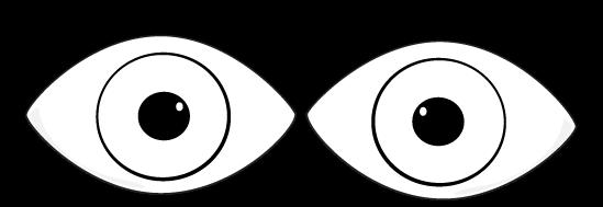 Eyes  black and white black and white eyes clip art image