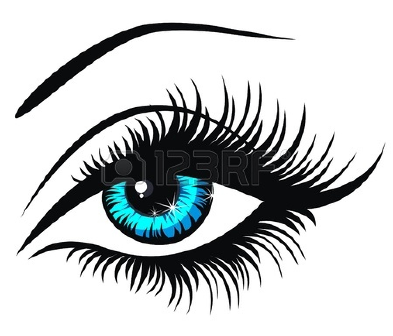 Eyes  black and white black eye clipart 3
