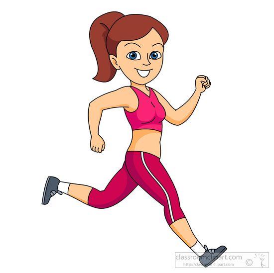 Girl running clipart 2
