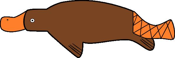 Platypus clipart 3