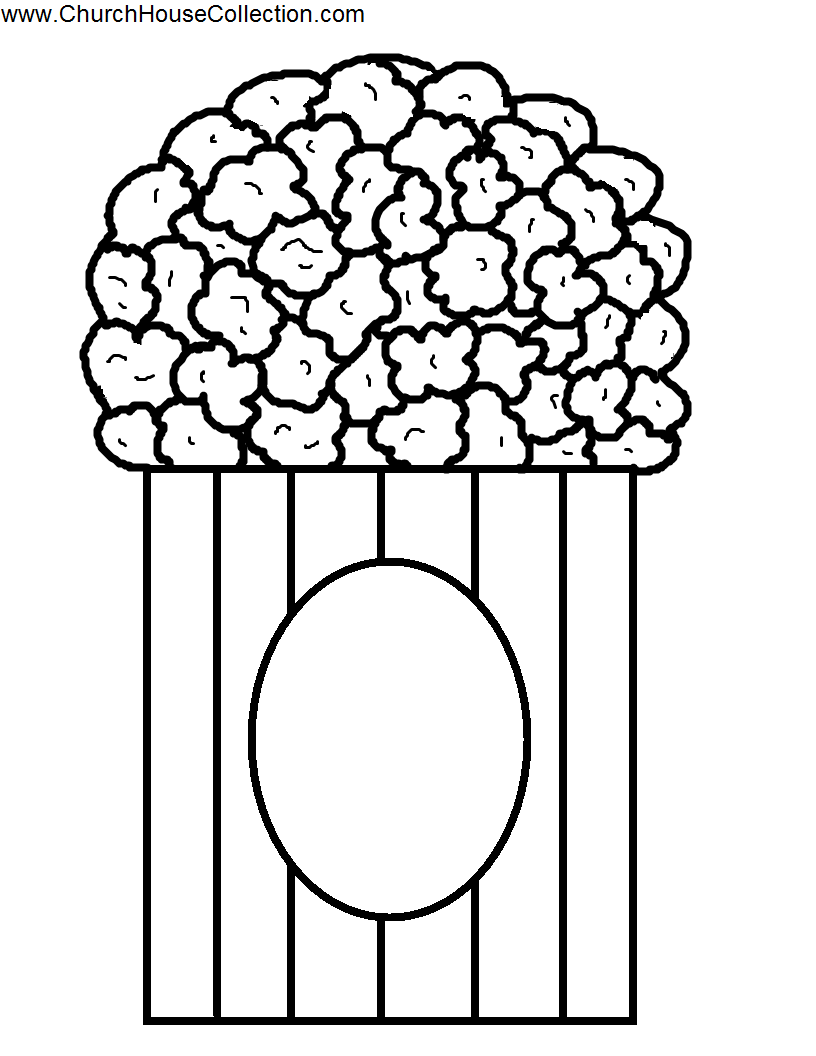 Popcorn  black and white popcorn black and white clipart 4