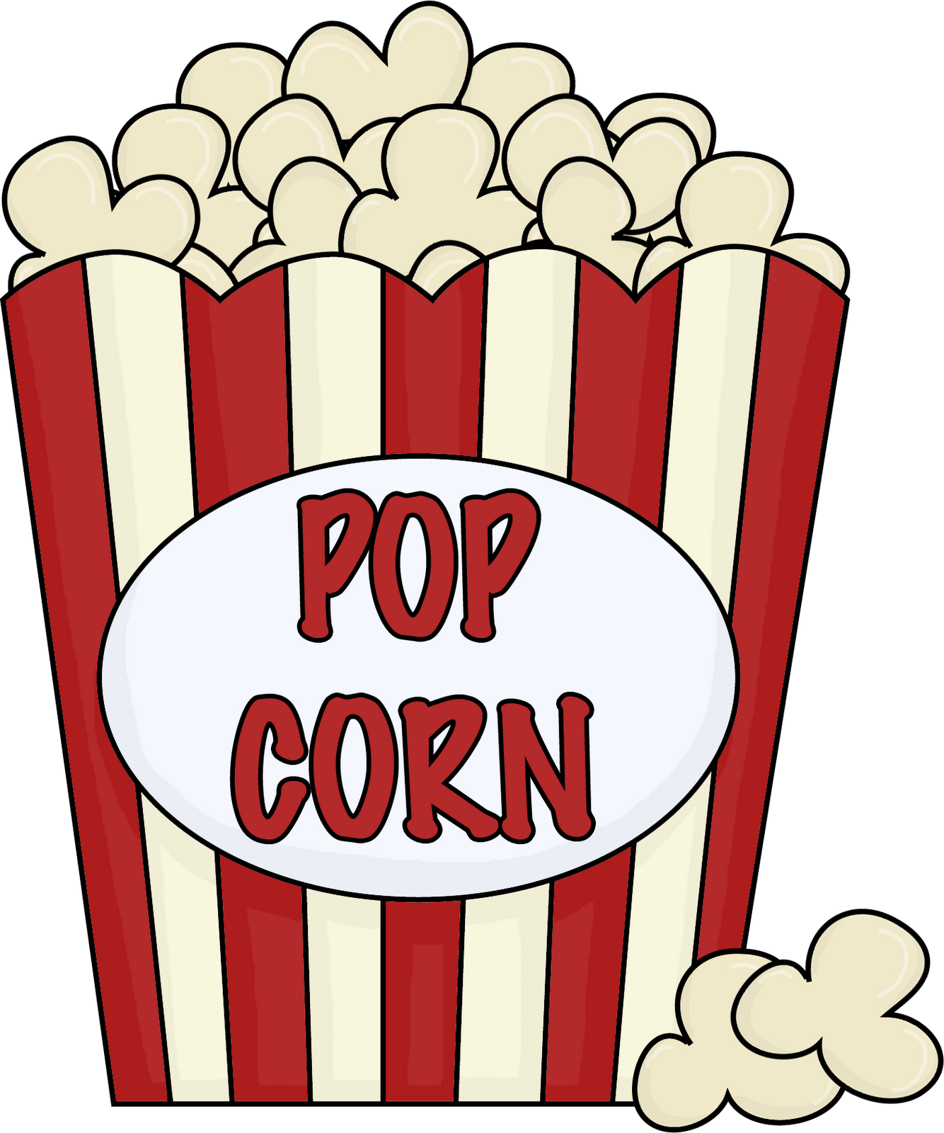 Popcorn  black and white popcorn bucket clipart 2