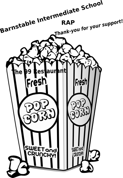 Popcorn  black and white popcorn clip art at vector clip art
