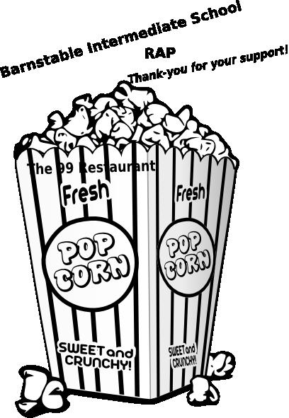 Popcorn  black and white popcorn clip art at vector clip art