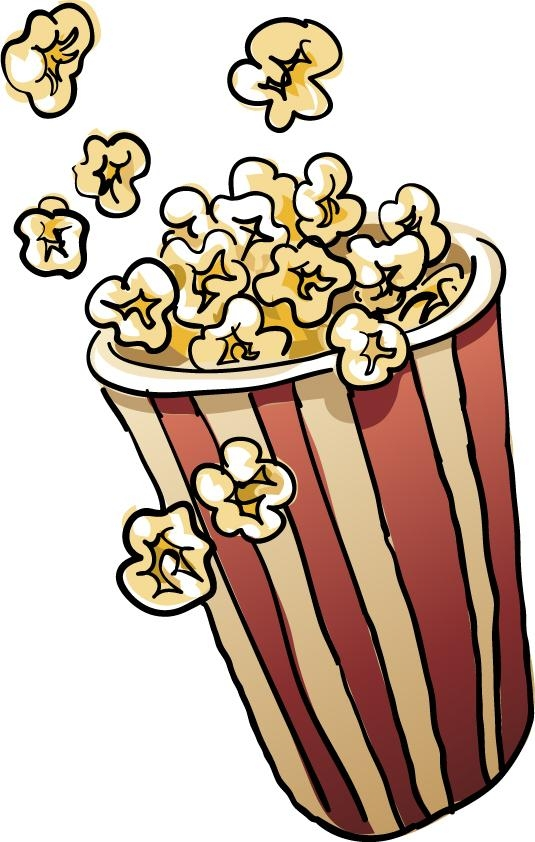 Popcorn  black and white popcorn clip art black and white free clipart images famclipart