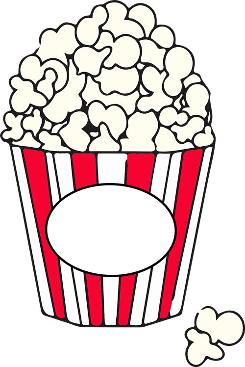 Popcorn  black and white popcorn pieces clipart black and white google search popcorn 2