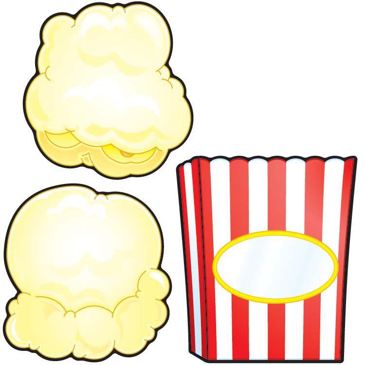 Popcorn kernel border free clipart images