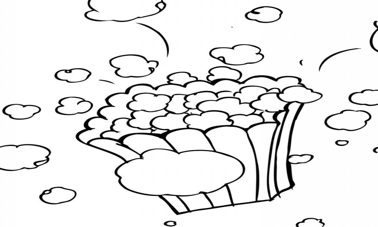 Popcorn kernel coloring sheet popcorn kernel coloring pages clipart 2