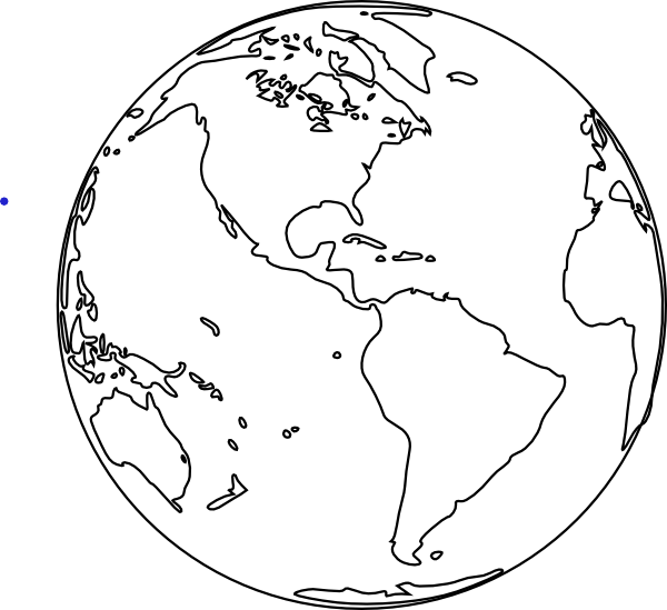 World Clipart Black And White