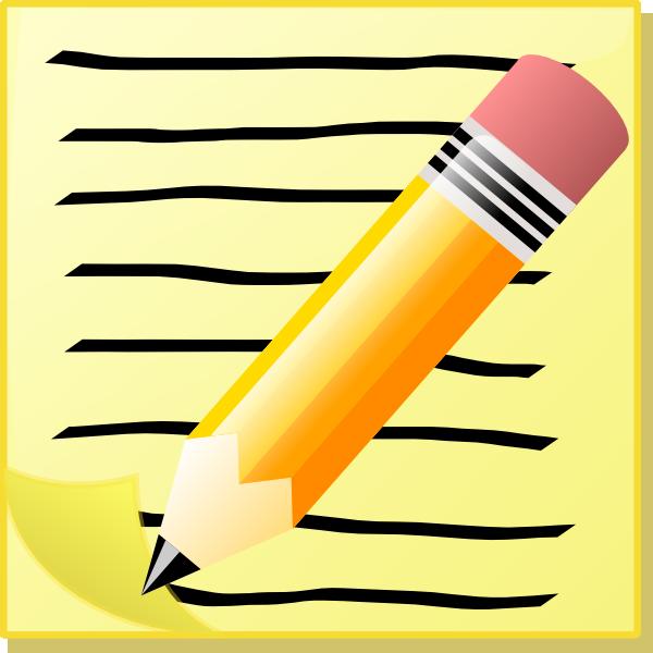 Write text clipart clipartfest