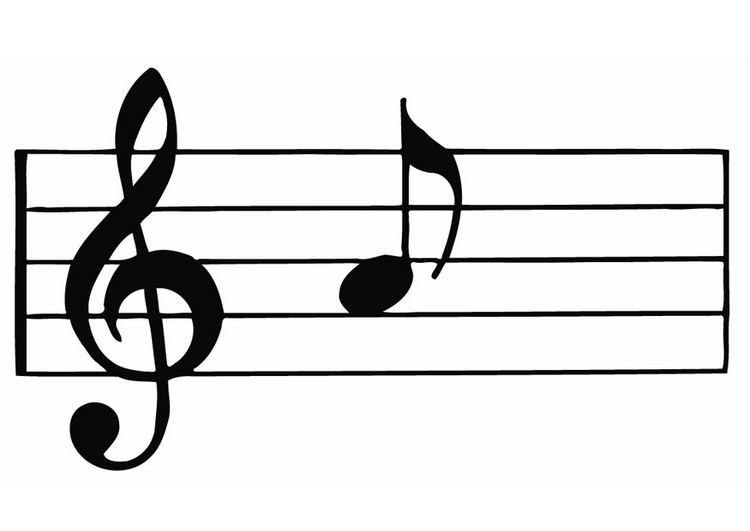 Blank music staff clipart free images 2