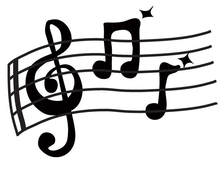 Clip art music staff clipart